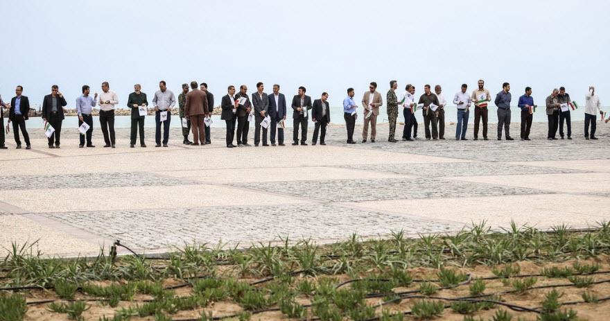 زنجیره انسانی در بوشهر