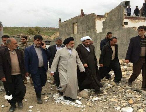 حضور حجت الاسلام والمسلمین میرعمادی در مناطق سیل زده