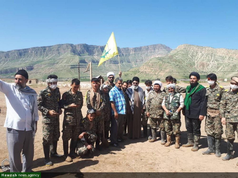 حضور سید هاشم الحیدری معاون فرهنگی حشدالشعبی عراق در مناطق سیل زده