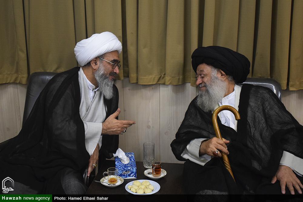 دیدار حجت الاسلام و المسلمین صفایی بوشهری با آیت الله موسوی جزایری