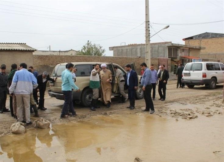 بازدید تولیت آستان قدس رضوی از مناطق سیل زده استان گلستان