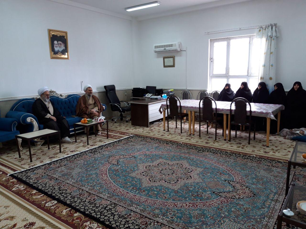 بازدید حجت الاسلام و المسلمین حیدری زاد از مدرسه علمیه فاطمة الزهرا