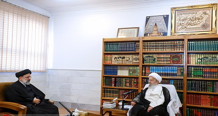 دیدار حجت الاسلام  رئیسی با آیت اله مکارم