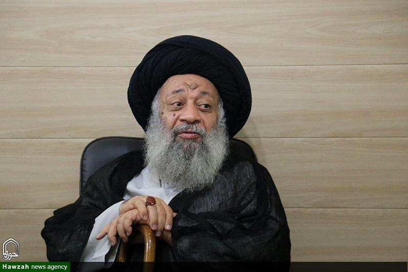 دیدار مدیر حوزه علمیه یزد با آیت الله موسوی جزایری