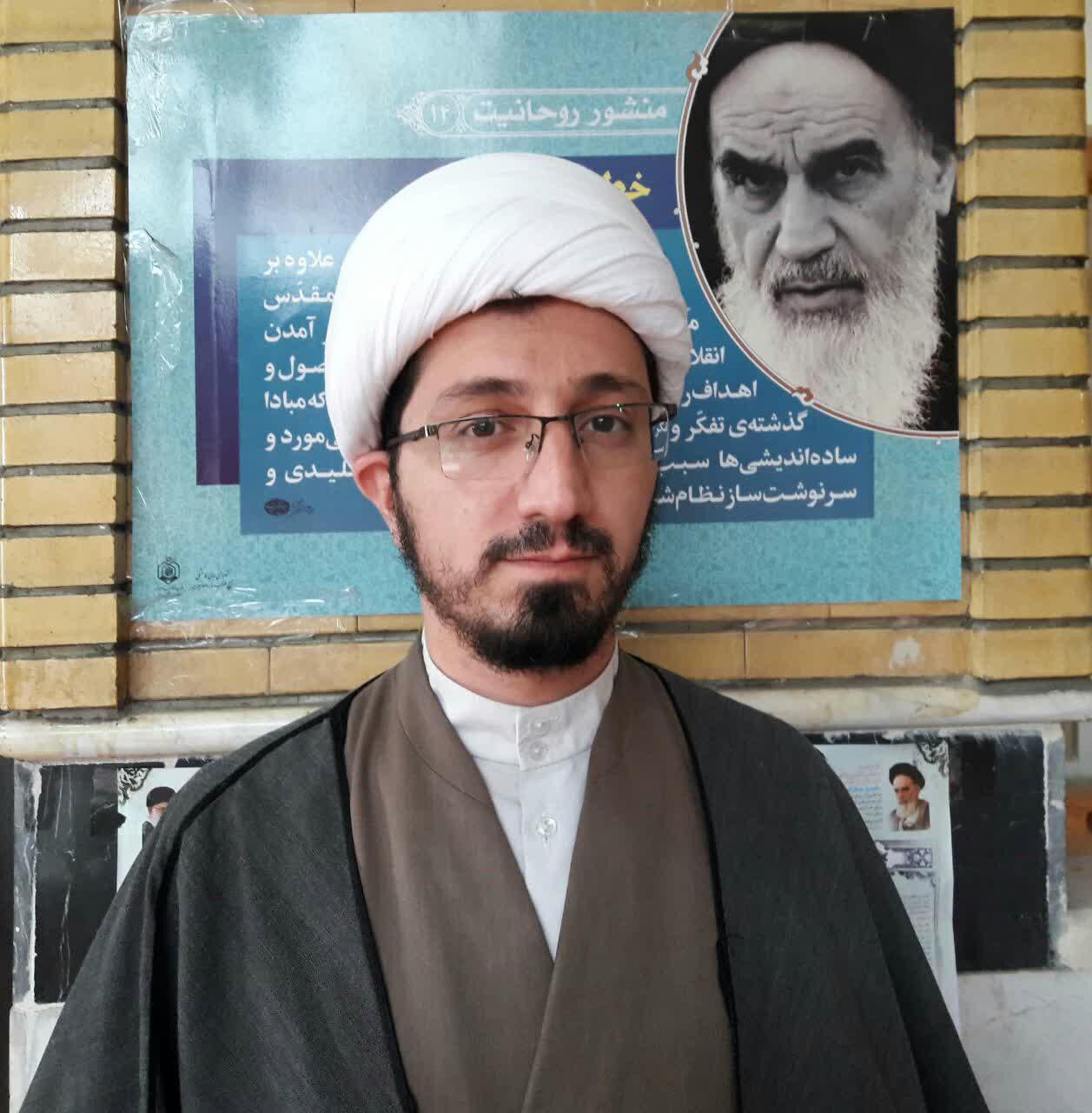 حجت الاسلام مقداد یعقوبی مدیر مدرسه علمیه باقرالعلوم(ع) سرپل ذهاب