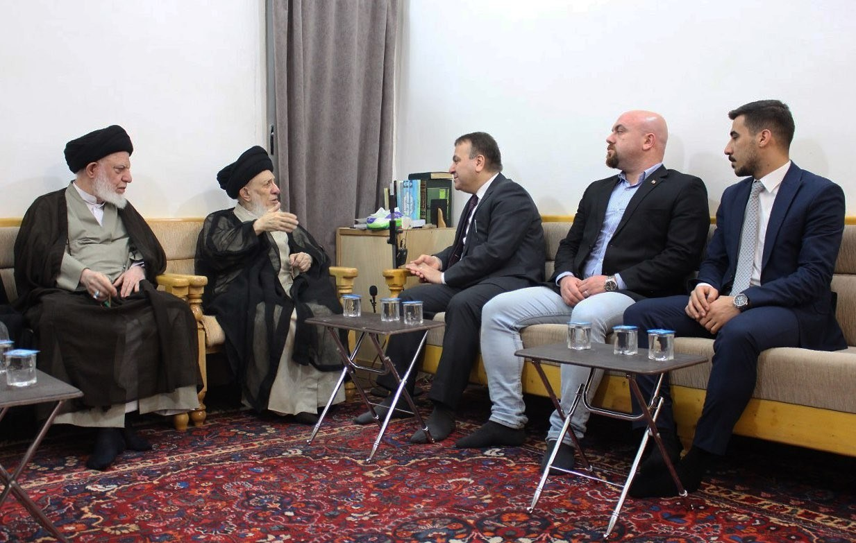 سفیر لبنان با آیت الله العظمی حکیم دیدار کرد