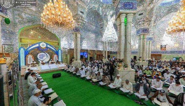 محفل ترتیل خوانی قرآن در حرم امیرالمومنین (ع)