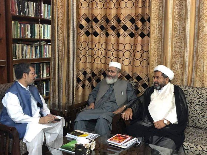 دبیر شورای علمای شیعه پاکستان با امیر جماعت اسلامی دیدار کرد