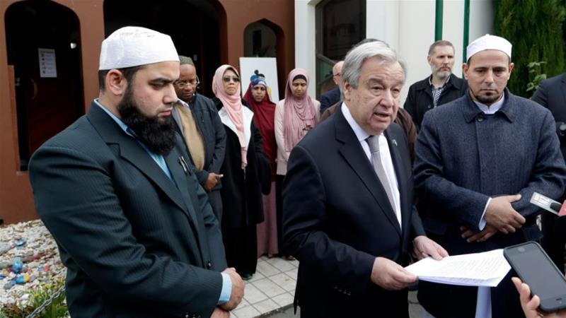 دبیرکل سازمان ملل با هیاتی از مساجد نیوزیلند بازدید کرد