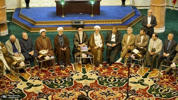 نشست رمضانى اساتيد و پيشكسوتان قرآنى در حسینیه جماران