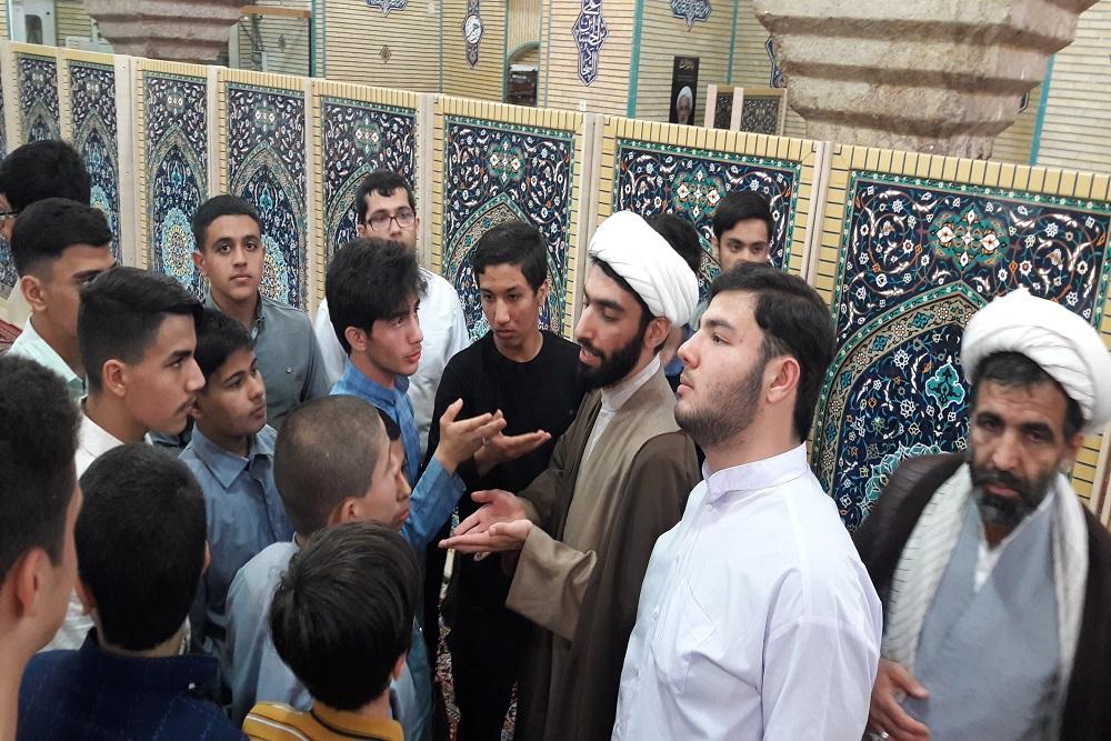 دیدار  دانش آموزان مسجدی از مدرسه علمیه حافظین قرآن حاج شهبازخان  کرمانشاه