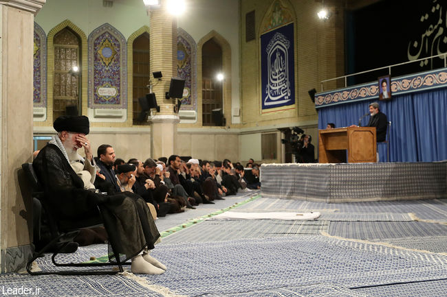 مراسم سوگواری سالروز شهادت امام علی(ع) در حضور رهبر معظم انقلاب