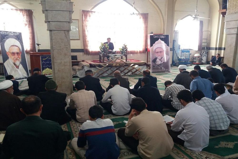 مراسم یادبود امام جمعه فقید و مدیر مدرسه علمیه صحنه