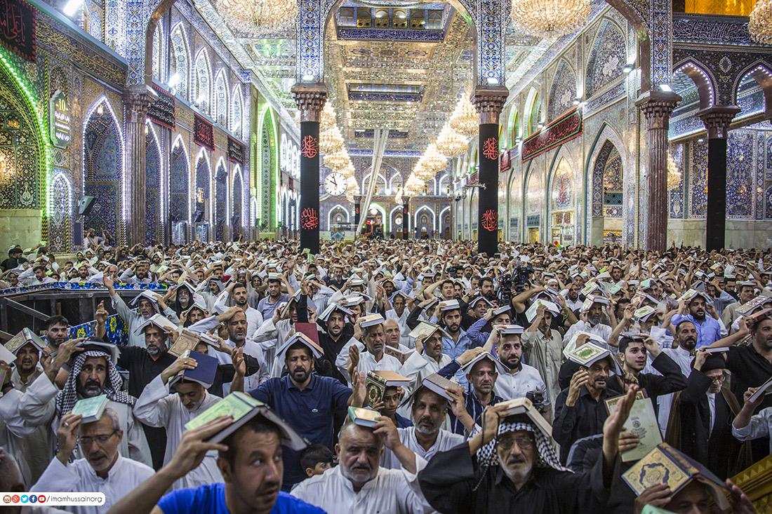 مراسم شب بیست و سوم ماه رمضان در حرم اباعبد الله الحسین (ع) برگزار شد