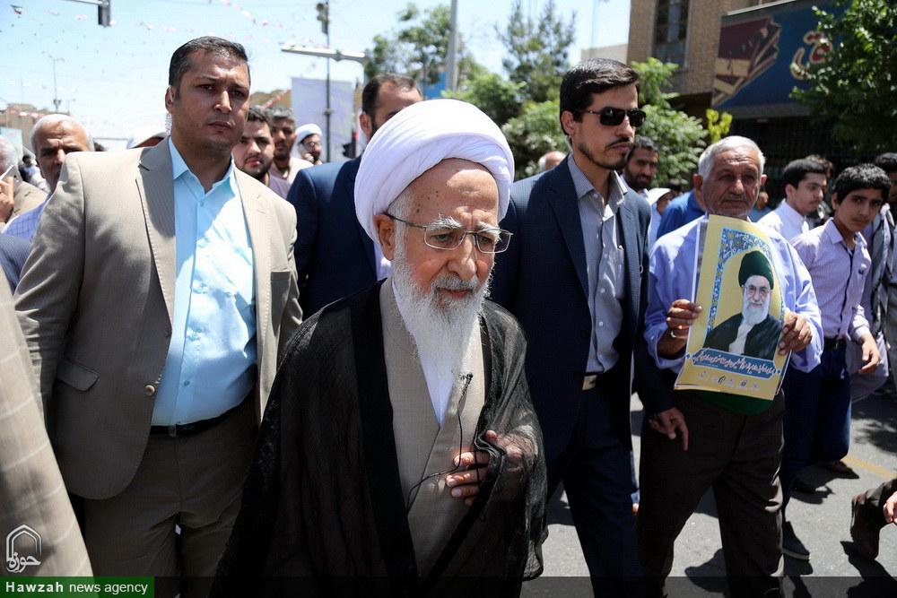 حضور مراجع و شخصیت های حوزوی در راهپیمایی روز جهانی قدس
