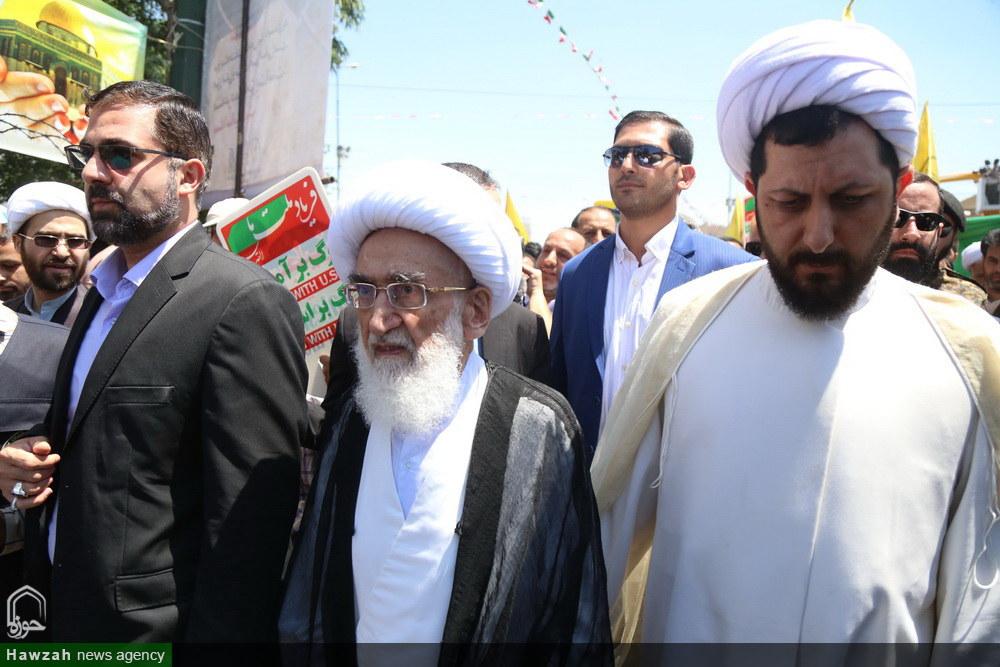 حضور مراجع، علما و شخصیت های حوزوی در راهپیمایی روز جهانی قدس