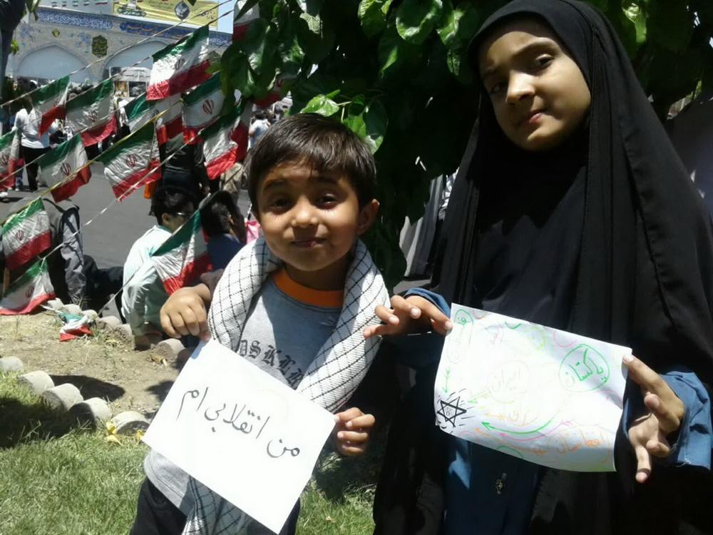 حضور کودکان و نوجوانان در راهپیمایی روز جهانی قدس