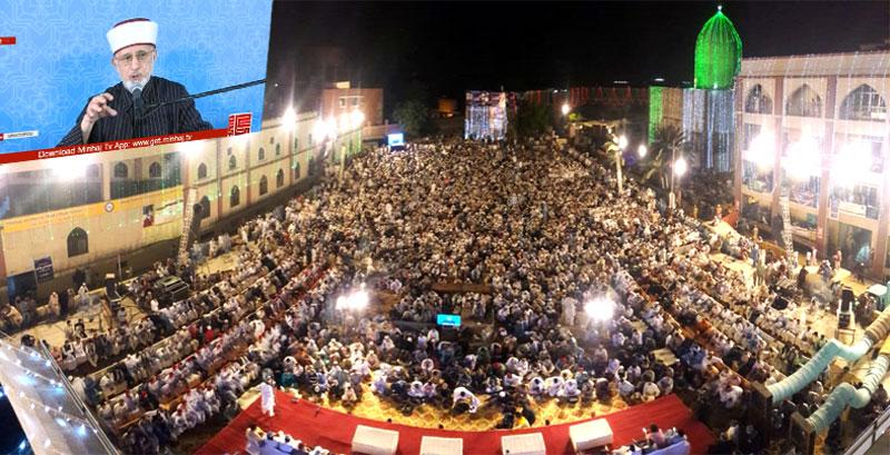 مراسم احیا شب بیست و هفتم ماه مبارک رمضان در پاکستان برگزار شد+تصاویر