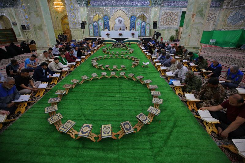 حال و هوای ترتیل قرآن کریم در آخرین روز ماه رمضان