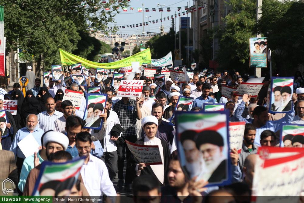 راهپیمایی مردم قم در سالروز قیام  ۱۵ خرداد