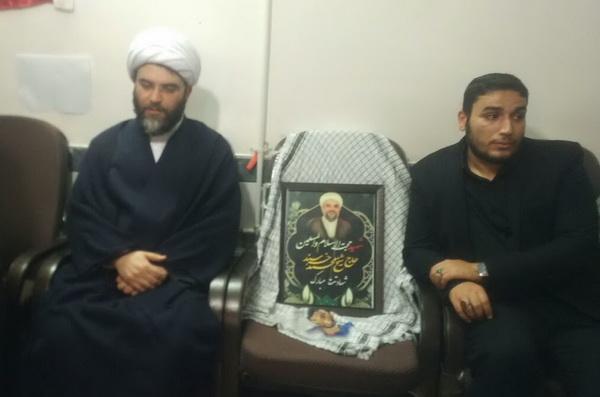 حضور رئیس سازمان تبلیغات کشور در منزل شهید خرسند