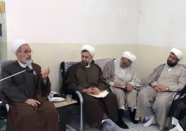 دیدار آیت الله اعرافی و کارکنان مرکز مدیریت حوزه علمیه یزد