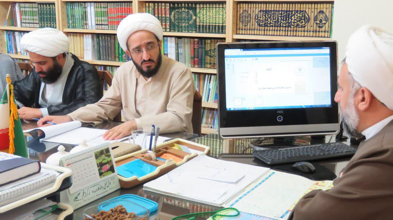 جلسه معاون تهذيب حوزه علميه استان يزد