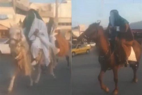 دو اسبسوار  مشکوک در کازرون