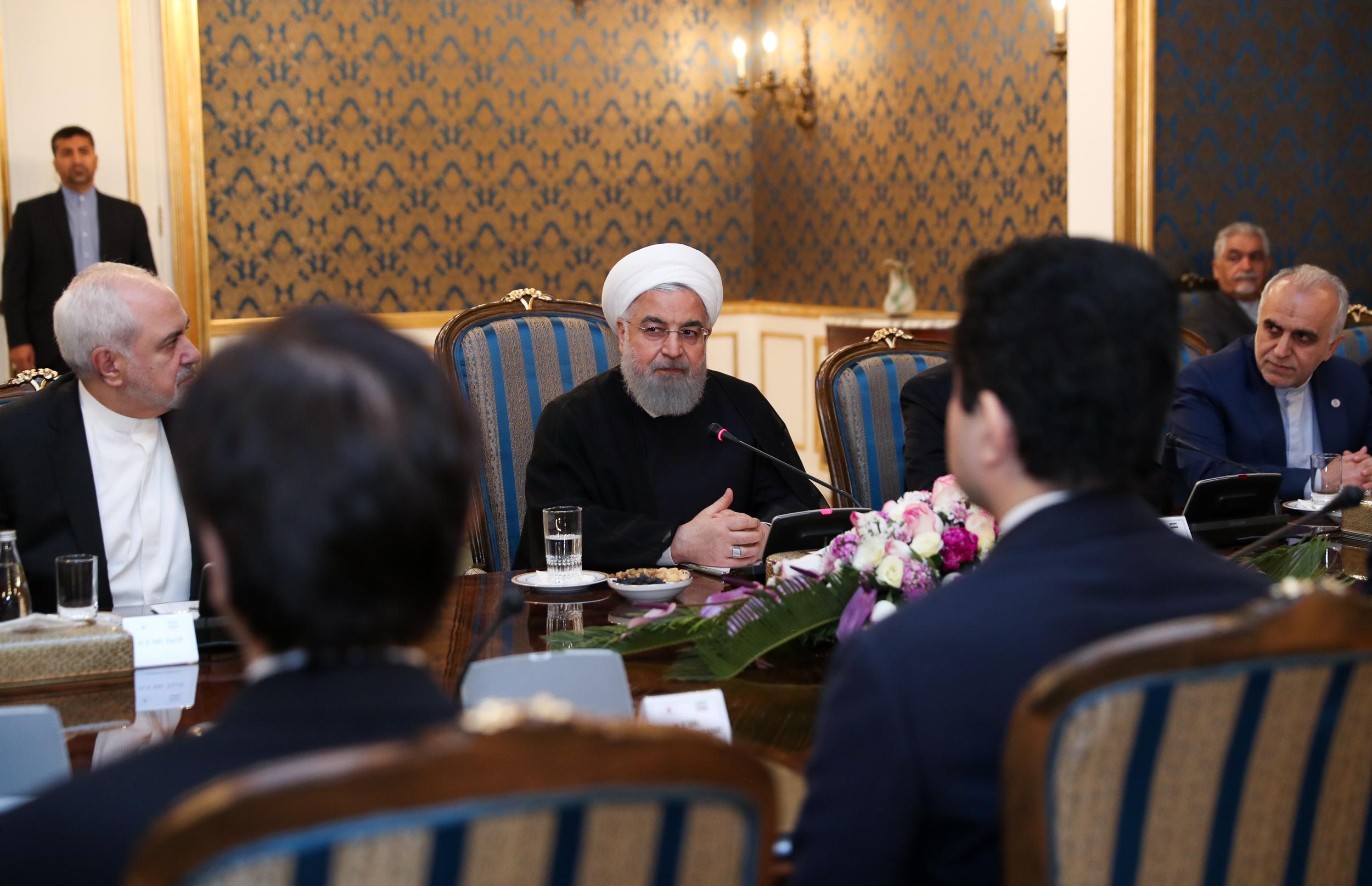 رئیس جمهور در نشست مشترک هیأتهای عالیرتبه ایران و ژاپن