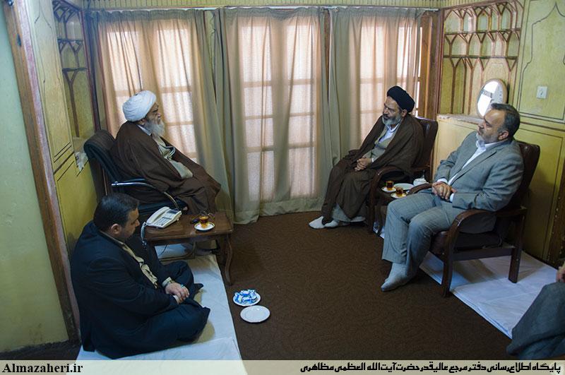 دیدار سرپرست حججاج ایرانی با آیت الله العظمی مظاهری