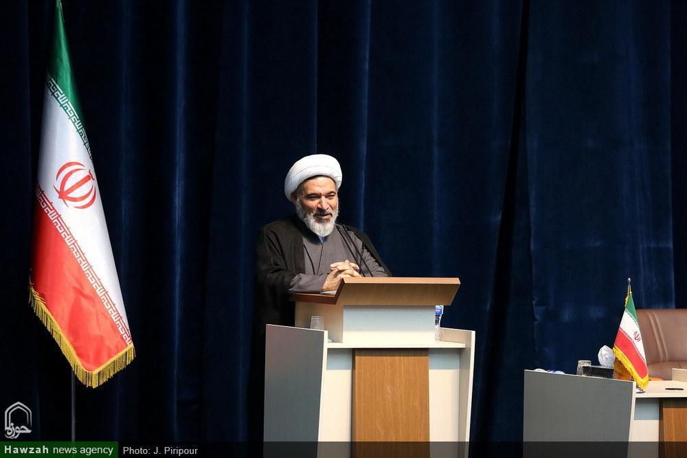 مراسم بزرگداشت روز تبلیغ و اطلاع رسانی دینی در مرکز مدیریت حوزه های علمیه خواهران-حجت الاسلام بهجت پور