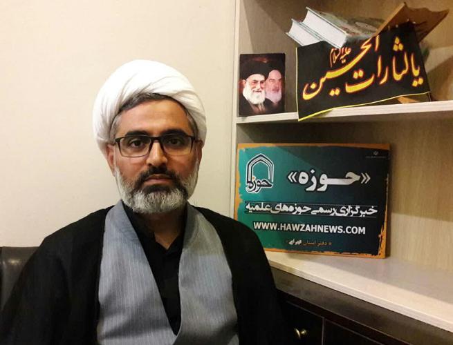 حجت الاسلام احمد منزه مدیر مدرسه علمیه امام خمینی(ره) هرسین