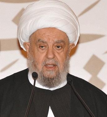 آیت الله عبد الامیر قبلان رئیس مجلس اعلای اسلامی شیعیان لبنان