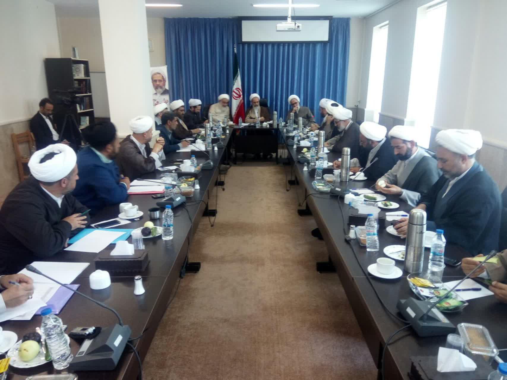 جلسه مدیران مدارس علمیه قزوین با حضور آیت الله اعرافی