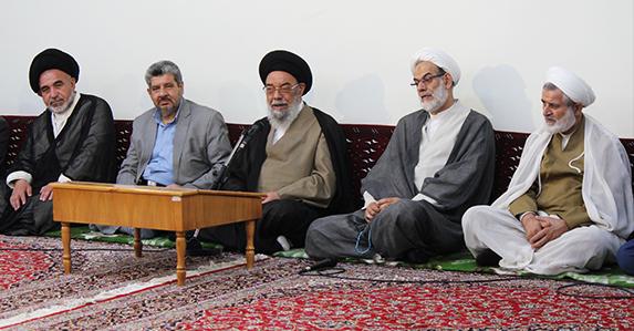 آیت الله سید یوسف طباطبایی نژاد در دیدار کارگزاران حج و زیارت استان اصفهان