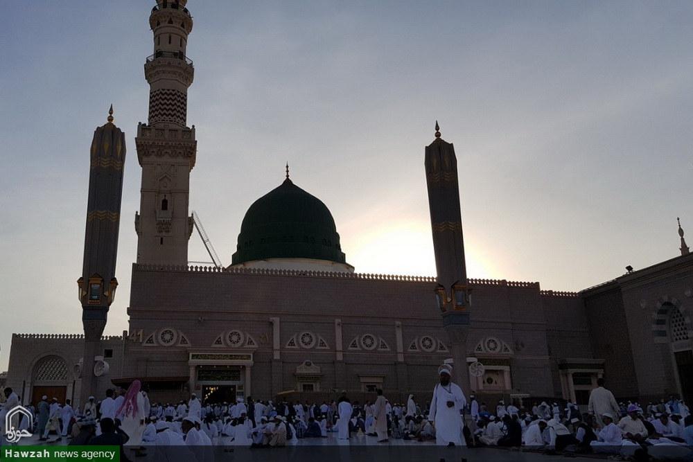 تصاویر/ حال و هوای مسجد النبی نگین شهر پیامبر اعظم(ص)
