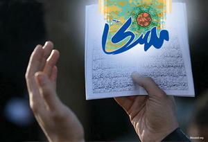 طنین بانگ «یا مهدی» بر بام مساجد و منازل مردم اهواز