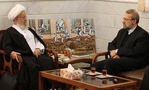 دیدار رئیس مجلس با مراجع  و علما