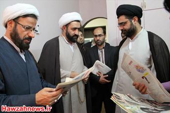تصاویر بازدید رئیس دفتر تبلیغات اسلامی از خبرگزاری حوزه
