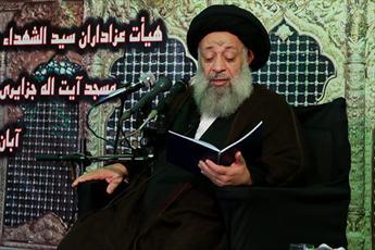 تصاویر/ مقتل خوانی آیت الله موسوی جزایری