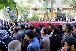پیکر شهید مدافع حرم حضرت زینب(س) در اهواز تشییع شد