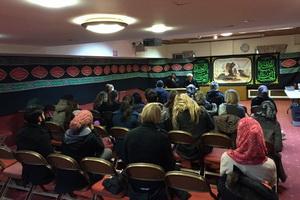 بازدید دانشجویان لندن از مرکز اسلامی انگلیس + عکس