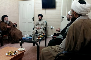 رییس دانشگاه باقرالعلوم(ع) با آیت الله موسوی جزایری دیدار کرد