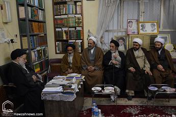 تصاویری از حضور رئیس مرکز خدمات حوزه در بین علما و طلاب خوزستان