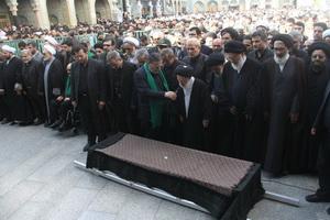 مراسم تشییع و تدفین همشیره رهبر معظم انقلاب در قم برگزارشد
