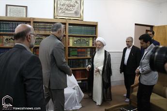 تصاویر/دیدار رئیس شورای شهر و شهردار جدید قم با مراجع و علما
