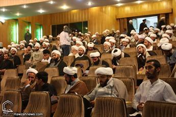 تصاویر اجلاس اساتید حوزه علمیه تهران با حضور آیت الله العظمی نوری همدانی