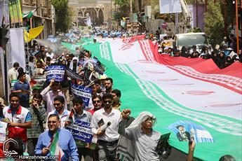 غیرت دینی مردم خوزستان در  روز حمایت از مظلوم