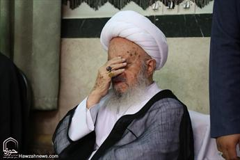 تصاویر/ بیوت مراجع و علما در سوگ امام نهم