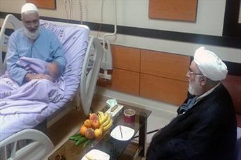 عیادت رئیس دفتر رهبر انقلاب از  امام جمعه قم